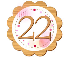 22が円の中に描かれているイラスト