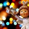 星を持った女の子の天使の像