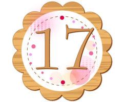 17という数字が真ん中に書いてあるイラスト