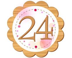 24の数字が円の中心に描かれているイラスト