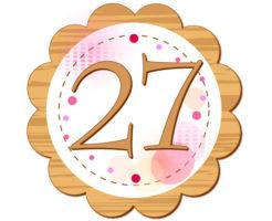 27の数字が円の中心に描かれているイラスト