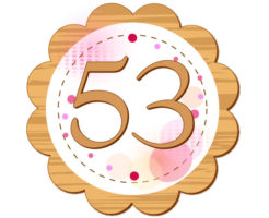 53と書いてある円のイラスト