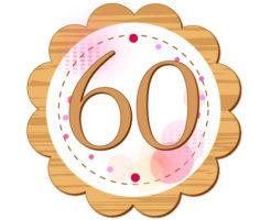60という数字が入っているイラスト