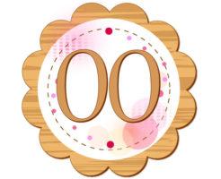 00の数字が円の中心に描かれているイラスト