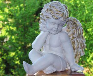 天使の像の写真