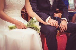 結婚式の風景の写真
