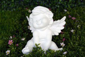 天使の置物の写真