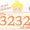 数字の3232と天使が描かれているイラスト