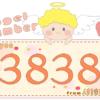 数字の3838と天使が描かれているイラスト