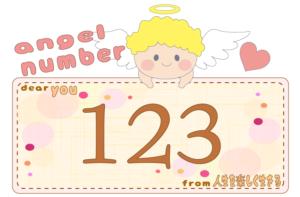 数字の123と天使が描かれているイラスト