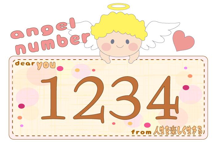 数字の1234と天使が描かれているイラスト