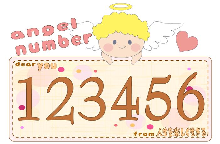 数字の123456と天使が描かれているイラスト