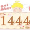 数字の1444と天使が描かれているイラスト