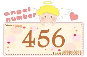 数字の456と天使が描かれているイラスト